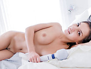 Hot Babe Henessy Pampering Her Pussy In Bed