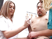 Nurses Help Him Produce A Sperm Sample With A Cfnm Handjob