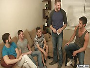 Hardcore Gay Fuck Fest With One Twink Vs Four Men