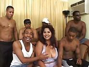 Big Titted Latina Gang Bang