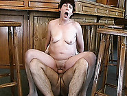 Mature Lady Is So Happy To Suck A Younger Mans Stick And To Eat