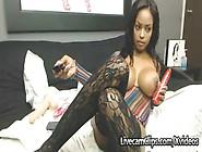 Amazing Hot Busty Ebony Babe Masturbation Cam Tube