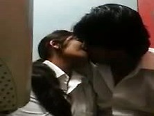 Internet Cafe Kiss & Boob Press Indian Hidden Cam Mms
