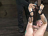 Wicked Bondage Master Had His Slave Hanging Upside Down