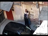 Chubby Mature Fucks With Man In Parking