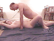 Sexy Brunette With Big Natural Tits Sucking An Old Man's Cock