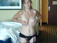 Solo Mature Amateur In Stockings Plays With Her Tits And Pussy