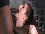 Nipple Clamps Hang Off The Tits Of A Face Fucked Slut