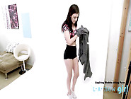 Teen Brunette 18, Gets Fucked At Her Audition Casting By A