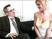 Insatiable Blond Haired Teen Sucks Sweet Dick Of Her Old Man Ard