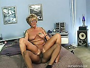 Horny Granny Begs Her Young Lover To Give Her A Hot Black Load