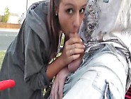 Amateur Babe Public Flashing Blowjob And Facial Risky