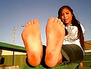 Sexy Latina Teen With Dirty Smelly Feet