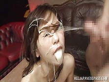 She Gets Blasted With Thick,  Creamy Cum