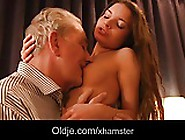 Grandpa Gorgeous Teen Girlfriend Fucking His Hard Old Cock