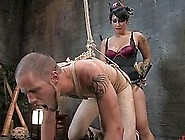 Poor Bastard Gets Brutally Tortured By Brunette Dominatrix