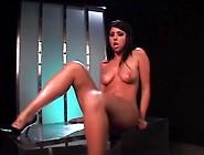 Nubile Latina Babe Fucks Her Moist Cunt With Dildo