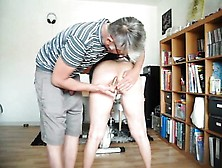 Submissive Housewife Takes A Hard Spanking And Delivers A Nice B
