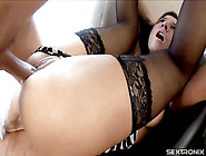 Anal Drilled Teens: Anal Creampie Ass Fucking For Brunette Young