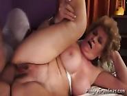 Big Cock Stuck Between Granny Pussy