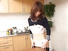 Asian Girl Humps Objects Around The House. Avi