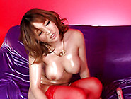 Oily Big Boobed Japanese Yuki Touma Gives Titjob And Sucks Cock