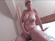 Naked Old Chick Masturbates Her Hairy Cunt