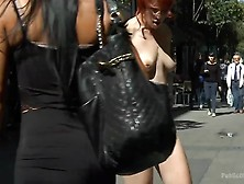 Redheaded Slut Beautifully Disgraced On Streets Of Madrid By Pub