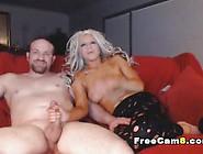 Hot Blonde Suck Huge Cock Deep In Her Throat