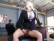 Beautiful,  Blonde Secretary Turned Into A Slut Once She Got Too