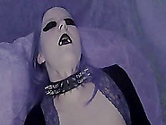 Busty And Ugly Goth Bitch Fucks Her Twat With A Dildo In Homemad