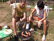 First Double Anal Anal Screwed At Bbq Party