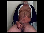 Hairy Grandpa Unloads His Hairy Uncut Cock And Balls