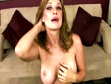 Cougar Mom Takes Her Time To Get Naked For Her Young Stud