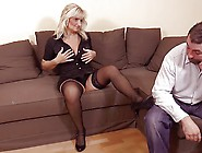 Hot Blonde Granny In Hot Sex