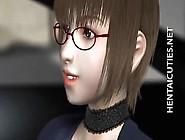 3D Anime Cutie In Glasses Slurp Cum