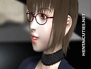 3D Anime Cutie In Glasses Slurp Cum