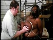 Black Bbw Simone Has Her Big Tits Tied Up And Mouth Duck Taped F