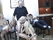 Blonde Girl Have Fun Fucking With Old Parents Of Her Bf