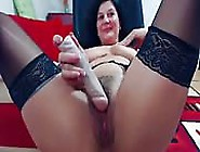 Busty Milf Toys Her Hairy Wet Pussy And Teases On Webcam