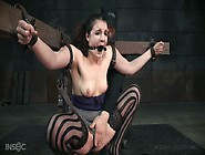 Kinky Dude Is Toying Pussy Of Tied Up And Restrained Whore Endza