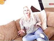 Plump Blonde Jodie Cummings Gets Her Knees Dirty To Taste A Rod