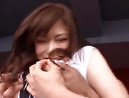 Bigtitted Chinese Nymph Anri Okita Wears Long Socks To Swallow A