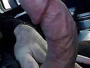 Jerking Off On The Bus-Close Up Cum Shot