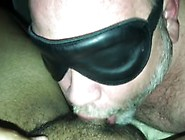 Older Bear Daddy Sucks My Young Latino Cock Blindfolded