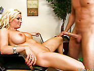 Blondie With Big Boobs And Tight Pussy Got Her Butthole Fucked