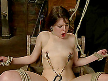 Juliette March Cums While Getting Her Pussy Toyed In Bdsm Scene