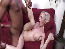 Slender Blonde Hoe Tries A Huge Black One