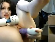 Sweet Webcam Girl Double Fuck Doll Play