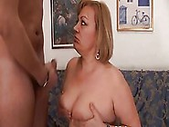 Fat Blonde Housewife In Black Stockings Is Often Having Sex With
